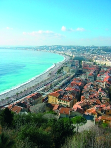 Beautiful view of Nice in France