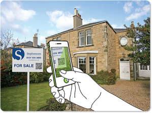 the future of mobile, phone scanning property sale sign